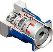 Planetengetriebe JPG: Metallbalgkupplungen  sind integriert