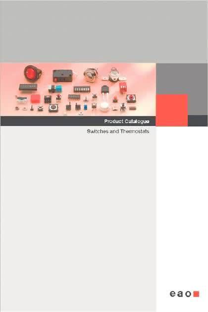 """Katalog """"Switches and Thermostats"""": Neuer Produktkatalog von EAO"""