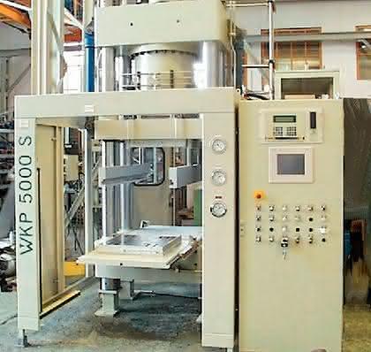 Vakuumkammer-Reinraumpressen (WKP 5000): Reinraum-Vakuumpresse bis zwei Meter