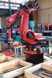 Sortierroboter Cutting Sort: Sägezuschnitte sortieren