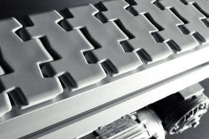 Modulares Kettenfördersystem: Abwaschbarer Förder-Baukasten