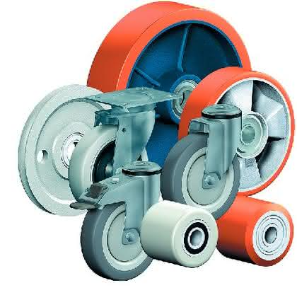 Räder mit Aluminiumfelge: Blaue Räder