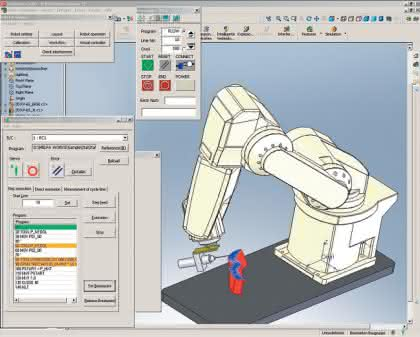 3D-Robotersimulation: Simulierte Roboter