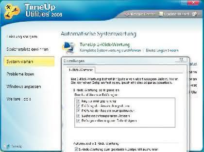 TuneUp Utilities 2008: Klar Schiff auf dem PC
