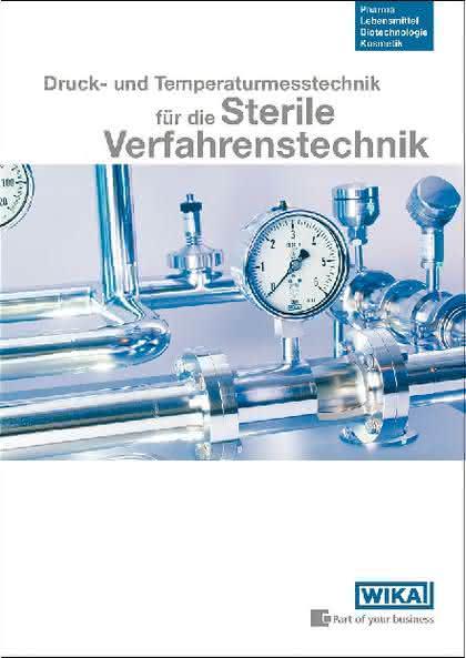 """Broschüre """"Sterile Verfahrenstechnik"""": Neue WIKA-Broschüre"""