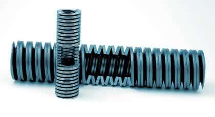 Schraubentellerfedern: Schräg  gewickelt