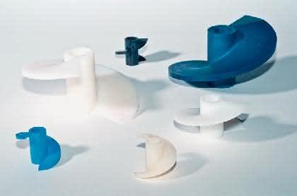 Kunststoffschnecken: Präzise aufgereiht