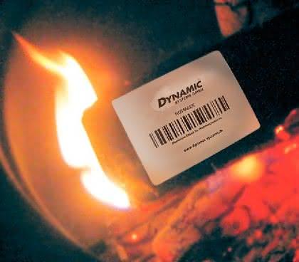 Hotmark-Etiketten: Halten Hitze aus