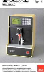 Kataloge: Mikro Osmometer und Kryometer