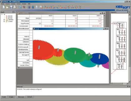 Berechnungssoftware: Getriebe  im Programm