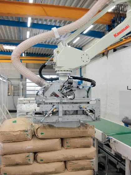 Roboter für Säcke-Handling: Unberechenbare Säcke