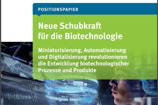 """Titelseite des Dechema-Papiers """"Neuer Schub für die Biotechnologie"""""""