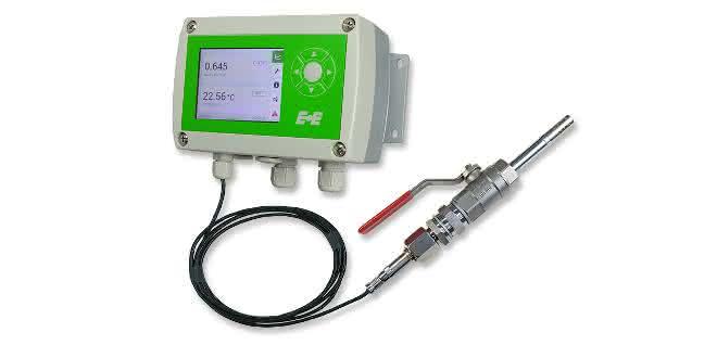 EE360 Messumformer mit IP65 Polycarbonatgehäuse und Messfühler mit Kugelhahn