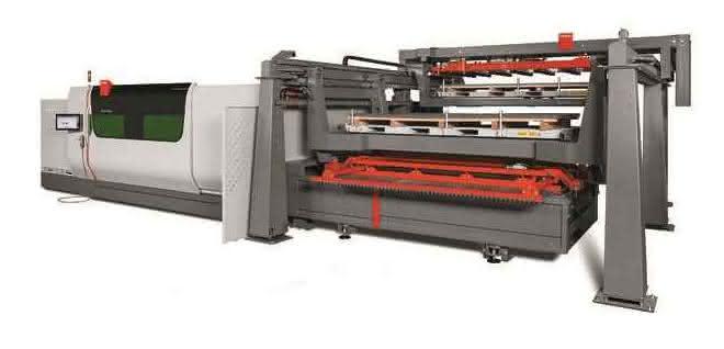 Schneiden von Blechen: Automatisierungslösung für Fasenlaserschneidsystem