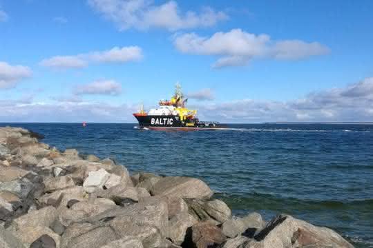 Flussmündung der Warnow in die Ostsee