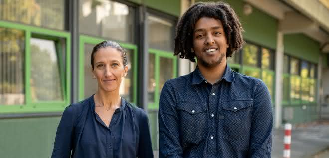 Bochumer Forschungsteam: Enrica Bordignon und Tufa Assafa.