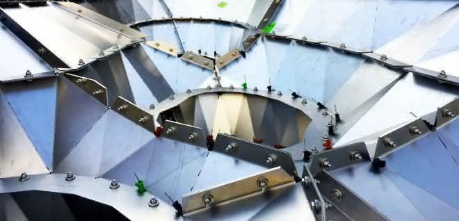 Das Innere der Stahlbaum-Konstruktion
