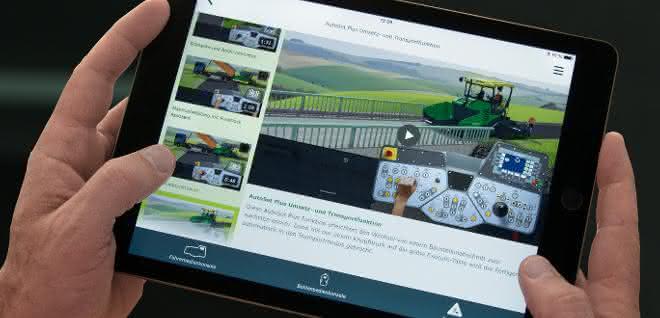 App für die Bedienung von Straßenfertigern