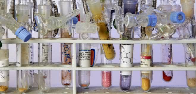 Auswahl an verschiedenen Katalysatoren aus LIKAT-Laboren.