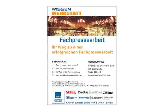 Fachpresse-Werkstatt am 6. Dezember in Darmstadt
