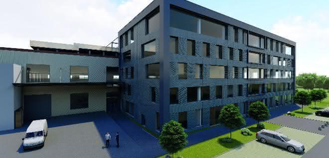 So wird das Technologie-Center nach der Fertigstellung aussehen.