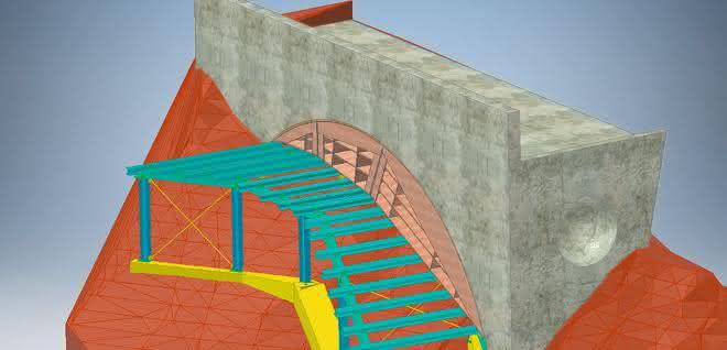 Sonderkonstruktion am Steilhang