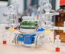 In dieser elektrochemischen Zelle führten die Forscher die Biobrennstoffzellentests durch.