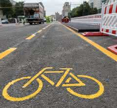geschützte Radfahrstreifen