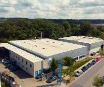 Luftbild des Firmensitzes der Lützenkirchen Lagertechnik