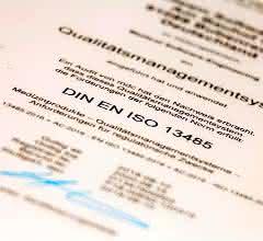ISO-13485:2016-Zertifikat