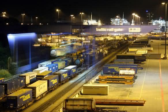 Lübecker Intermodalterminal mit Jahresbestmarke