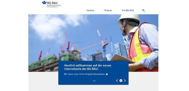 Neuer Internetauftritt der BG BAU