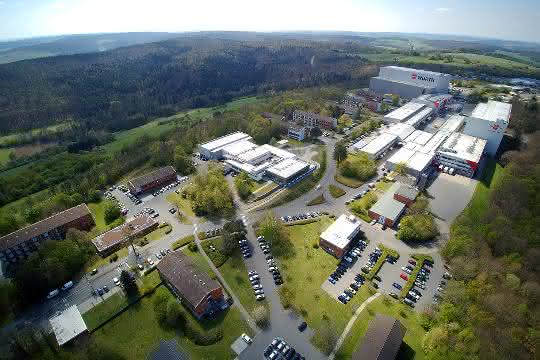 Würths Logistikzentrum für Industriebelieferung in Bad Mergentheim.