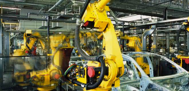 Roboter in Automobilproduktion