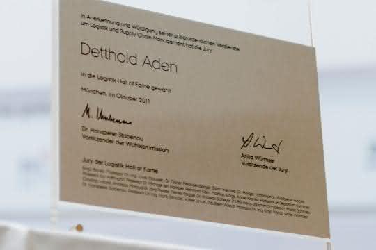 Logistics Hall Of Fame: Empfang zu Ehren Detthold Adens im Verkehrsministerium