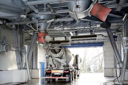 Betonversorgung: Betonmischanlage mit besonderen Features