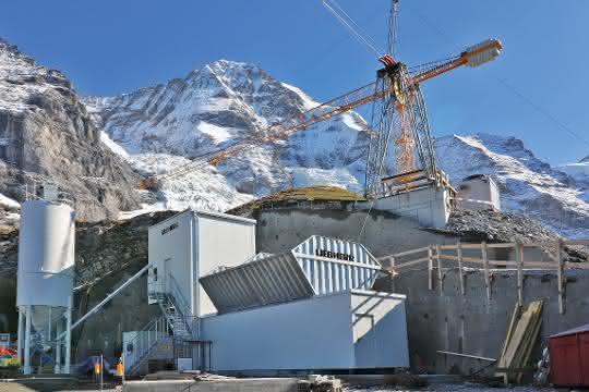 Betonmischanlage: Beton für Seilbahnprojekt in der Schweiz