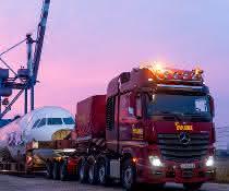 Spektakulärer Airbus-Transport mit dem Actros