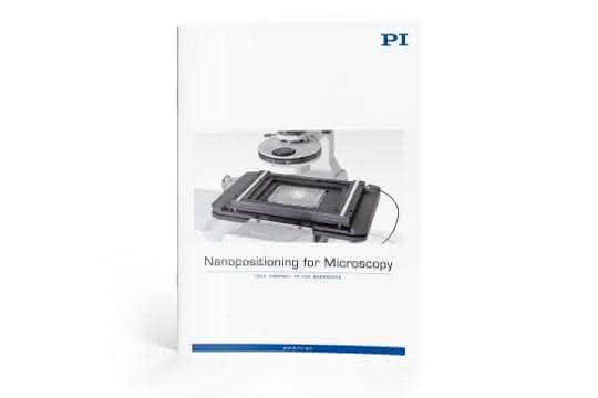 """Titelseite der Broschüre """"Nanopositioning for Microscopy"""""""