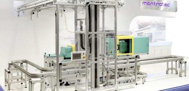 Anbindung einer Spritzgießmaschine an das Fördersystem