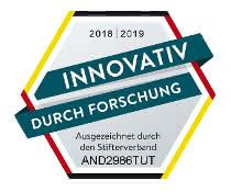 """Siegel """"Innovativ durch Forschung"""""""