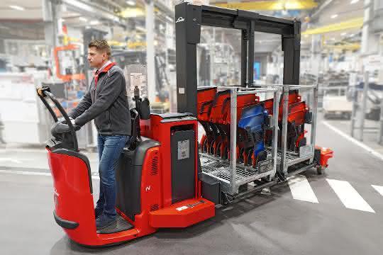 Trolley-Transport neu gedacht: Vorteile von Logistikzug und Stapler kombiniert