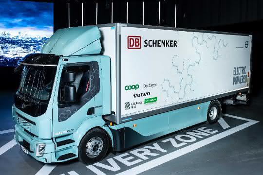 Ein Volvo FL Electric für DB Schenker Schweden