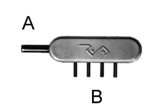 Minischlauchverbinder Edelstahl V1 von Reichelt Chemietechnik