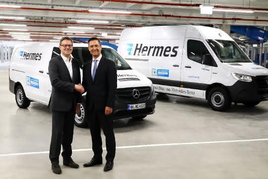Elektrisch auf der letzten Meile: eSprinter Pilotfahrzeuge und erste eVito in Serie gehen an Hermes