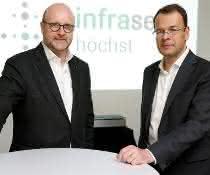Die Infraserv-Geschäftsführer Jürgen Vormann (links) und Dr. Joachim Kreysing