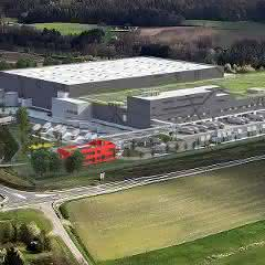 3D-Bild des geplanten Multi-Channel-Zentrallagers in Geiselwind