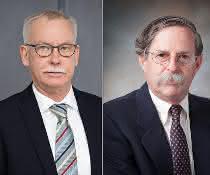 Professor Dr. Franz-Ulrich Hartl vom MPI München (links) und Professor Dr. Arthur L. Horwich
