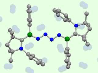 Modell gekoppelte Stickstoffmoleküle