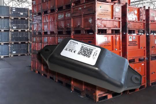 mit Sensoren ausgestatteten Container
